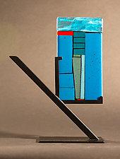 Mini Art: Drill II by Vicky Kokolski and Meg Branzetti (Art Glass Sculpture)