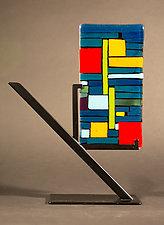 Mini Art: Line Up by Vicky Kokolski and Meg Branzetti (Art Glass Sculpture)