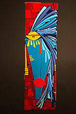 Mia by Vicky Kokolski and Meg Branzetti (Art Glass Wall Sculpture)