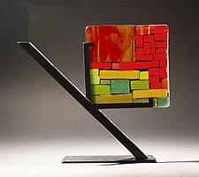 Sunrise by Vicky Kokolski and Meg Branzetti (Art Glass Sculpture)
