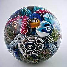 Ocean Reef Paperweight by Michael Egan (Art Glass Paperweight)