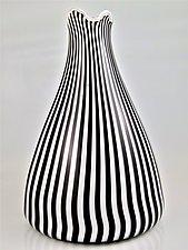 Black Tie Vase by Michael Egan (Art Glass Vase)