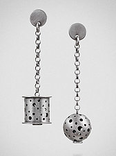 In Balance by Maja  (Silver Earrings)