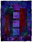Colorfields: Tanzanite by Michele Hardy (Fiber Wall Hanging)