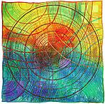 Circles 21 by Michele Hardy (Fiber Wall Hanging)