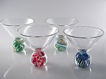 Marbletini by Michael Egan (Art Glass Goblet)