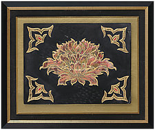 Chinese Peony by Marcia Jestaedt (Ceramic Wall Sculpture)
