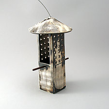 Textured Bird Feeder by Cheryl Wolff (Ceramic Bird Feeder)