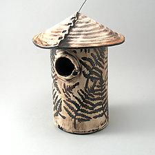 Fern Leaf Bird House by Cheryl Wolff (Ceramic Birdhouse)