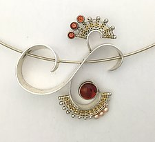 Nine Ladies Dancing Silver Pendant by Marie Scarpa (Gold, Silver & Stone Necklace)