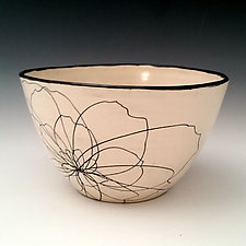 Peony Serving Bowl by Whitney Smith (Ceramic Bowl)