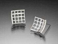 Light Mesh Post Earrings by Marie Scarpa (Sterling Silver Earrings)
