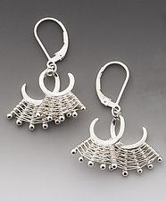 Folded Scroll Earrings by Marie Scarpa (Silver Earrings)