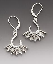 Single Scroll Earring by Marie Scarpa (Silver Earrings)