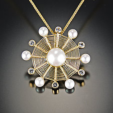 Snowflake by Marie Scarpa (Gold, Stone & Pearl Necklace)