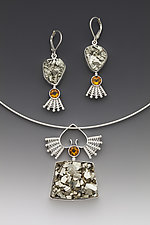 Queen of Hearts Pendant and Earrings by Marie Scarpa (Silver & Stone Jewelry)