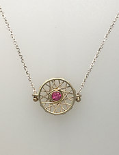 Cycles Medium Pendant by Marie Scarpa (Gold & Stone Necklace)