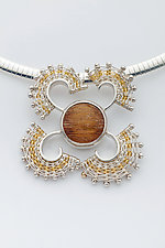 Fandango Pendant with Rutillated Quartz by Marie Scarpa (Gold, Silver & Stone Necklace)