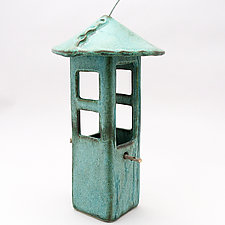 Bird Feeder with Windows by Cheryl Wolff (Ceramic Bird Feeder)