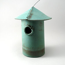 Stoneware Bird House by Cheryl Wolff (Ceramic Birdhouse)