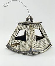 Textured Triangle Bird Feeder by Cheryl Wolff (Ceramic Bird Feeder)