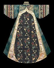 Wedding Robe of Hod Hod by Marcia Jestaedt (Ceramic Wall Sculpture)