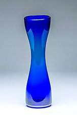 Small Simplicity Vase in Cobalt Blue by Chris Mosey (Art Glass Vase)
