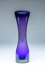 Small Simplicity Vase in Purple by Chris Mosey (Art Glass Vase)