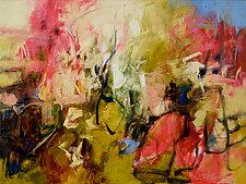 Wild Rose 1 by Karen Scharer (Oil Painting)