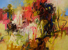 Wild Rose 2 by Karen Scharer (Oil Painting)