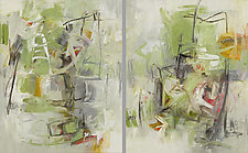 Solstice Diptych by Karen Scharer (Oil Painting)