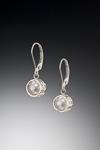 Silver Caged Pearl Earrings by Marie Scarpa (Silver & Pearl Earrings)