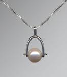 Stirrup Pendant by Marie Scarpa (Silver & Pearl Pendant)