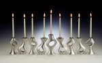 A Piece of Me Menorah by Lisa Slovis (Pewter Menorah)
