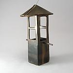 Bird Feeder in Bronze by Cheryl Wolff (Ceramic Bird Feeder)