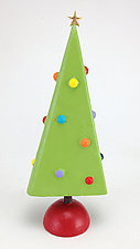Christmas Tree by Hilary Pfeifer (Wood Sculpture)