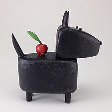 Apple Scottie by Hilary Pfeifer (Wood Sculpture)