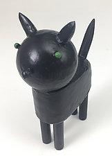 Halloween Black Cat by Hilary Pfeifer (Wood Sculpture)