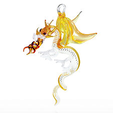 Enchanted Dragon by Milon Townsend (Art Glass Ornament)