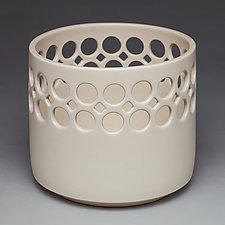 Lacework Cylindrical Bowl by Lynne Meade (Ceramic Vase)