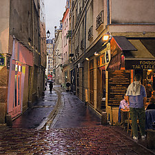 Rainy Evening in Paris by Steven Kozar (Giclee Print)