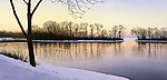 Open Water-Winter Sunset by Steven Kozar (Giclee Print)