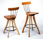 Pitchfork Swivel Chair by Brad Smith (Wood Chair)