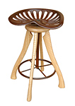 Tractor Seat Stool by Brad Smith (Wood Stool)