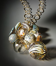 Sea Treasures Necklace by Melissa Schmidt (Art Glass Necklace)