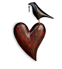 Raven Heart Wall Sculpture by Mark Orr (Wood Wall Sculpture)