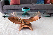 Spiral Cocktail Table by Blaise Gaston (Wood Coffee Table)