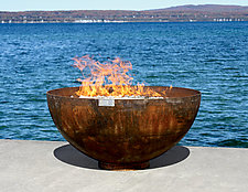 Big Bowl O' Zen Sculptural Firebowl by John T. Unger (Metal Fire Pit)