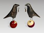 Raven on Billiard Ball by Mark Orr (Wood Sculpture)