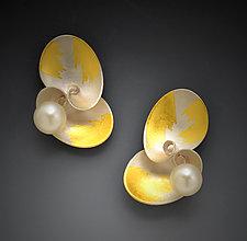 Cloud Cluster Earrings by Judith Neugebauer (Gold, Silver & Pearl Earrings)